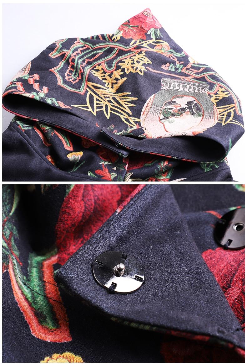 Dame Femmes Robe Hiver Floral xxl Automne Embro Vintage Vêtements M Élégante Chinois Imprimé Belle Traditionnel Moulin Lâche IYnwIqgR7x