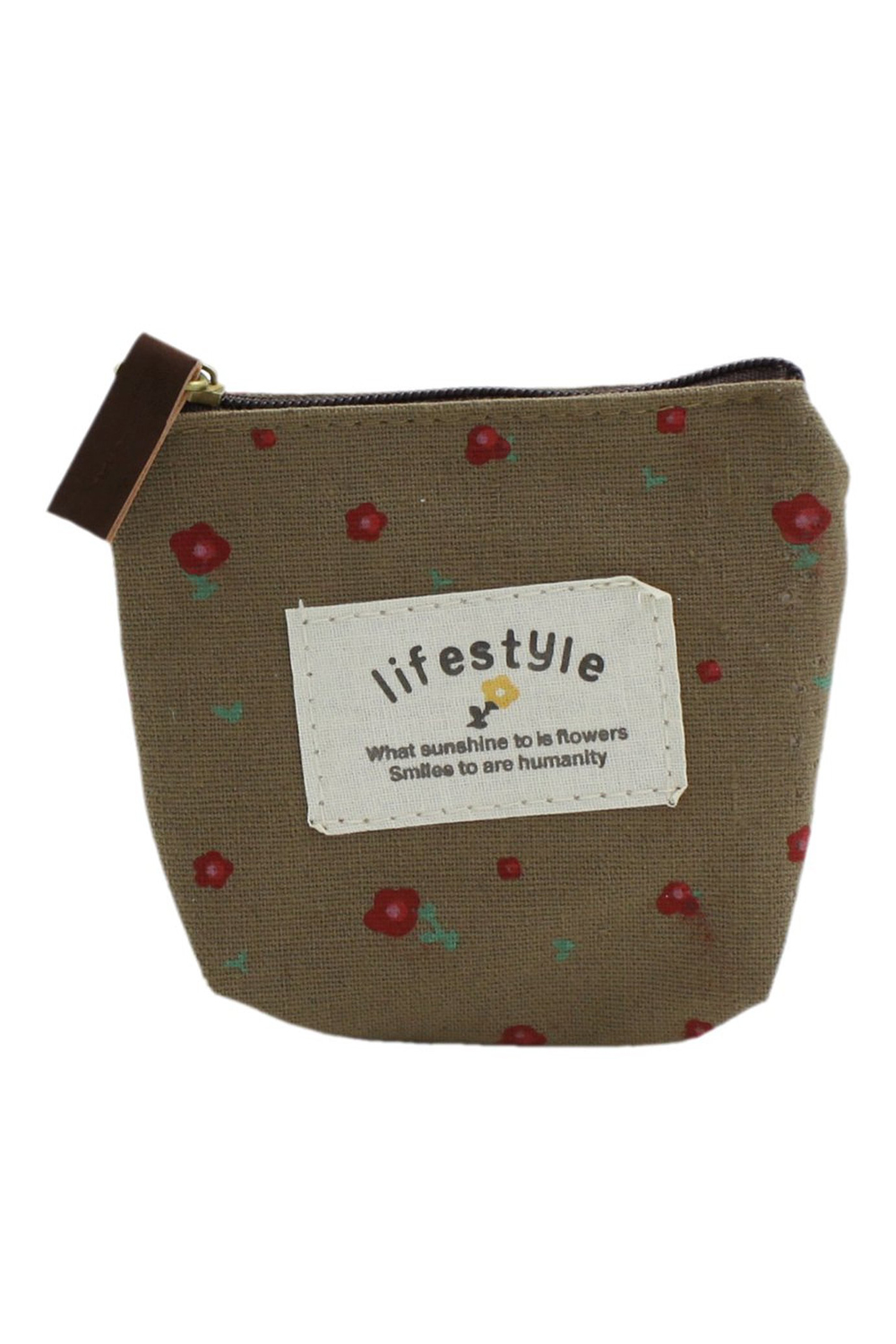 Lady Small Canvas Purse Wallet Coin
