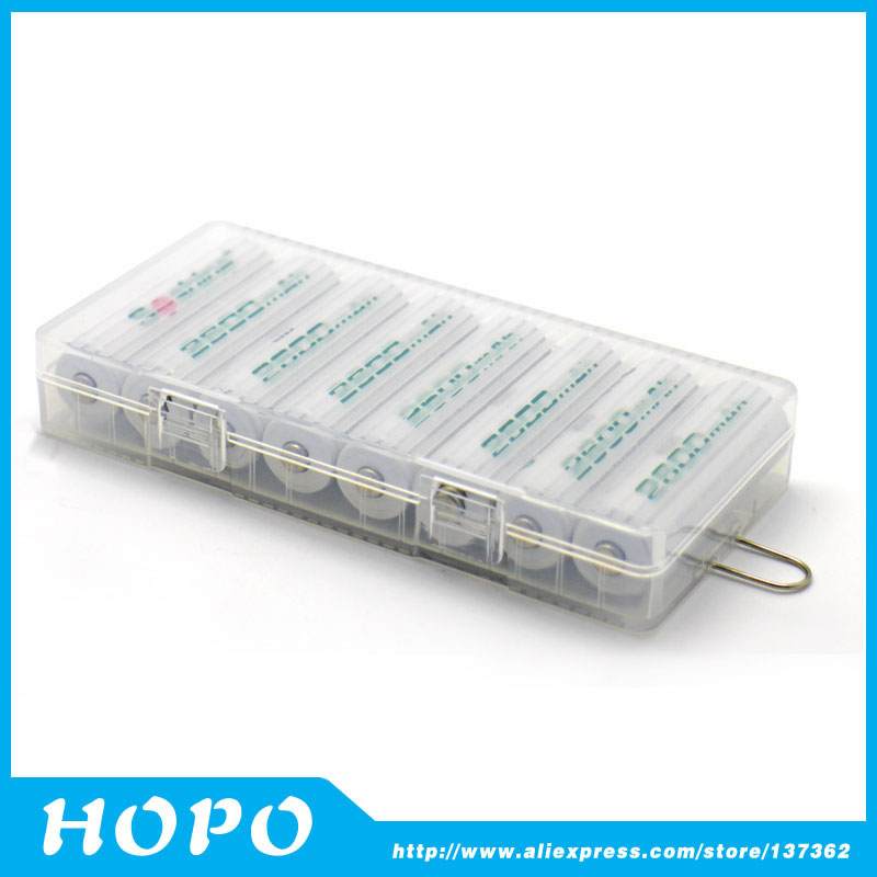 Portable Hard Plastic Battery Storage Box AA Battery Holder Case For 8 X AA  Batteries ...