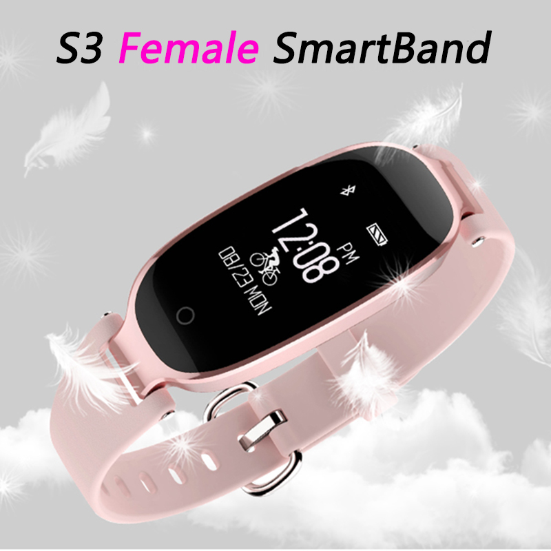 New S3 Fashion Smart Band Bracelet Girl Women Heart Rate Monitor Wrist Smartband Lady Female Fitness
