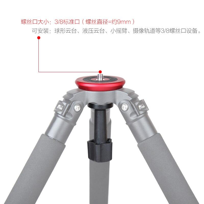 JIEYANG 75mm semisphère convertisseur demi-boule plat à bol adaptateur pour trépied à tête fluide DSLR caméra de montage