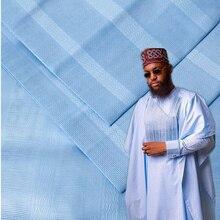 Новое поступление Нигерия стиль Atiku хлопок ткань 10 ярдов кусок хлопок Atiku ткань в красивом бежевом цвете для мужская одежда 30