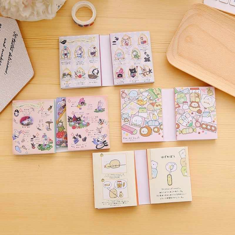 1PC Lovely New Creative Sentimental Circus Notepad Memo 6 Fold Sticky Note Pad Notebook Retail Pepsi Stick Korea Stationery