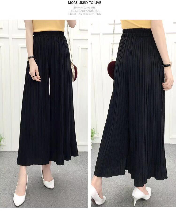 Nantersan pleated loose thin wide leg pants female nine pants thin section breathable casual pants 23