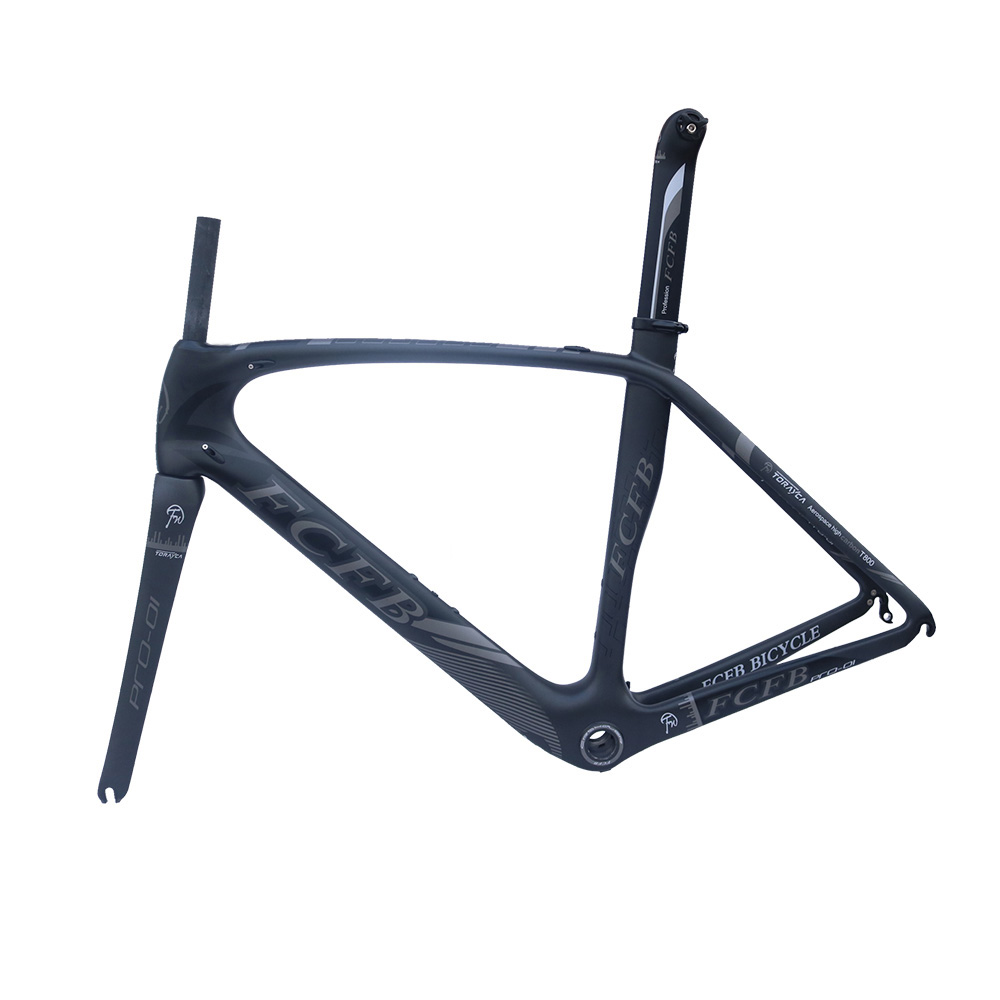 HTB1jFCCRXXXXXXzXXXXq6xXFXXXf - 2017 new FCFB carbon road frame bike road carbon frame 49/52/54/56cm matt BSA bicicleta road bike frame with carbon handlebar