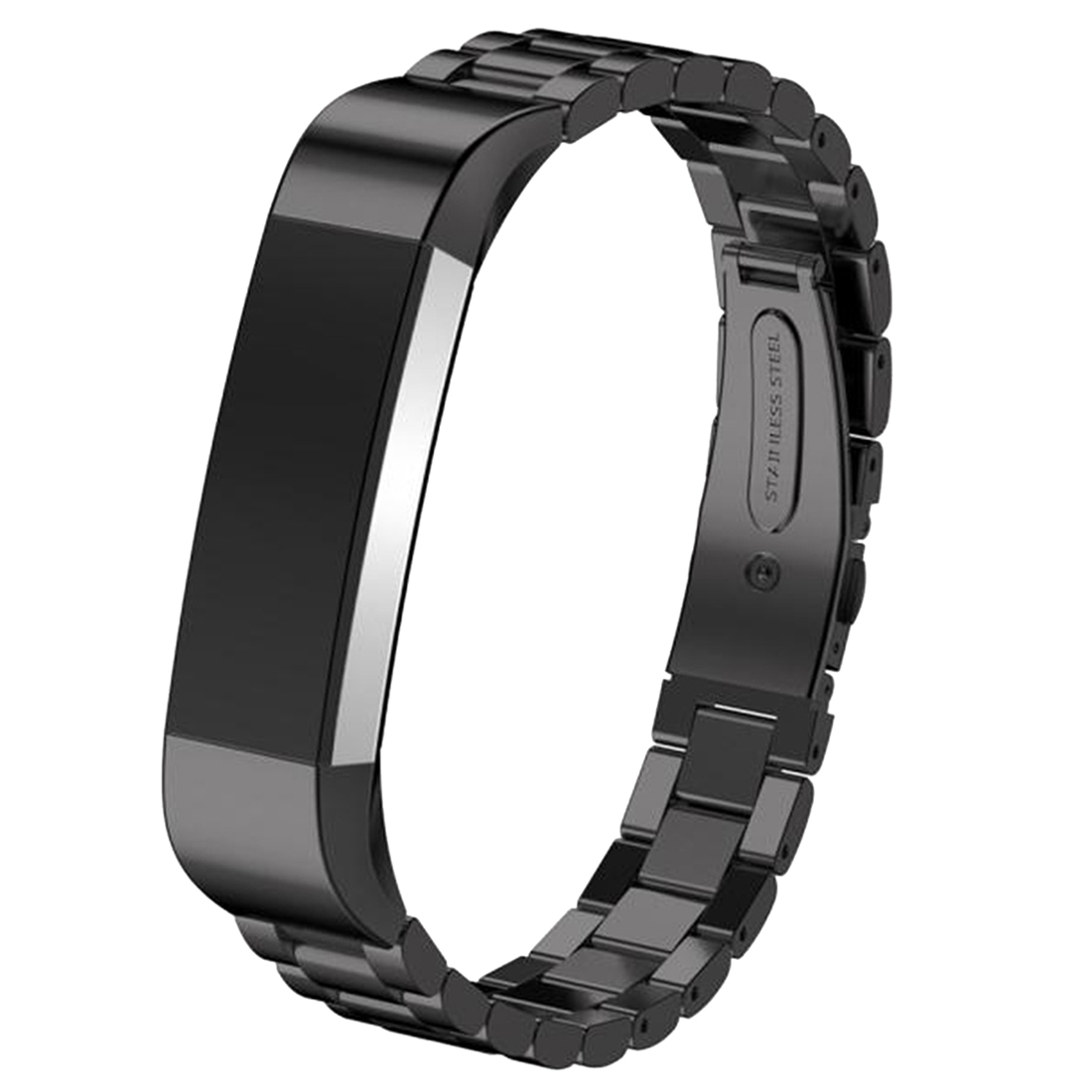 Stainless Steel Watch Band Fitness Tracker Wrist Strap For Fitbit Alta Bracelet Black