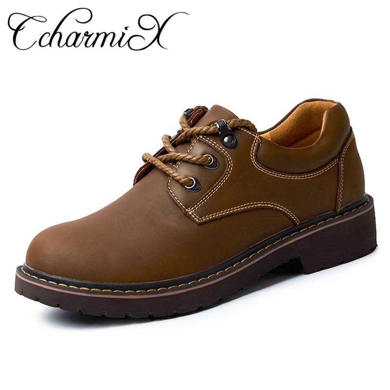 CcharmiX Brand Mens Shoes Genuine Leather Handmade Luxury Mens Oxfords Top Quality Casual Shoes Men Work Shoes Large Size Flats поло женское oodji ultra цвет темно синий 19301001 8 46161 7900p размер s 44
