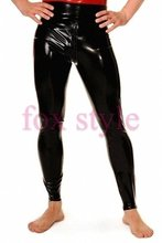 shinning black Latex Rubber bottom leggings