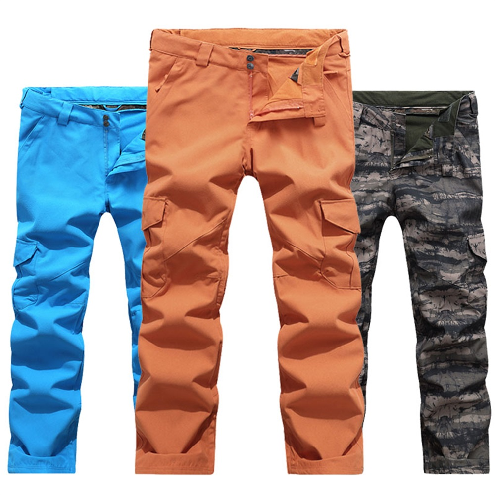 High Quality Ski Trousers Men Suspenders Snow Pants Waterproof Breathable Warm Skiing And Snowboarding Pants for Male Brand