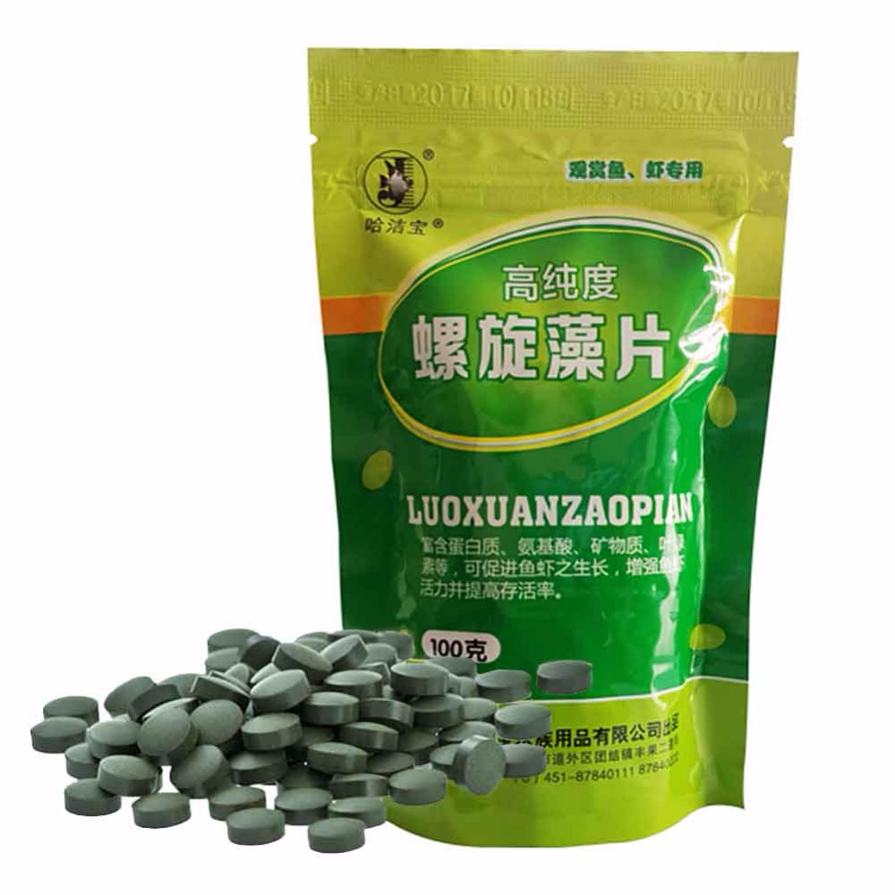100g spirulina veggie algae wafers tablets catfish for Bulk fish food