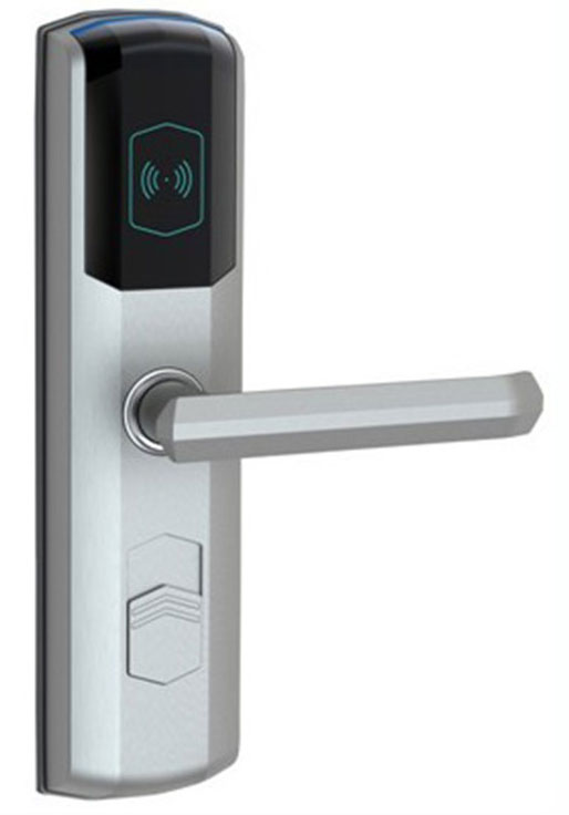 hotel lock system,RFID T5577 hotel lock,gold / silver color, with a test T5577 card sn:CA-8036 hotel lock system rfid t5577 hotel lock system gold or silver color t5577 card zinc alloy forging sn ca 8027