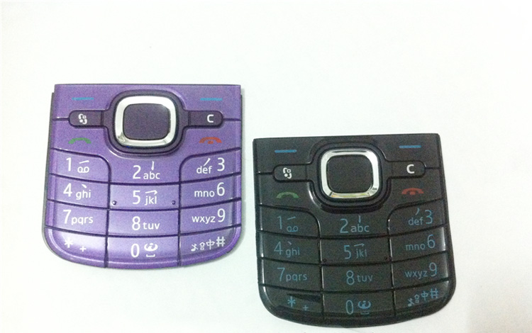 5pcs/lot Black/Purple New Ymitn Housing Cover Case For <font><b>Nokia</b></font> <font><b>6220</b></font> 6220C keypads Keyboards,Free Shipping image