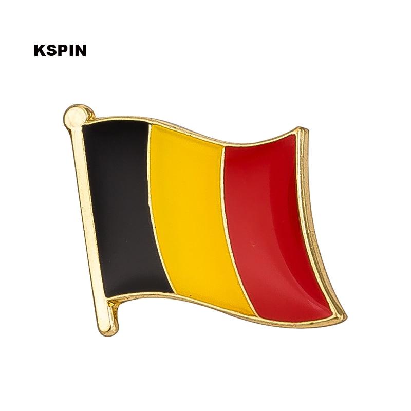 Belgium flag badge pin lapel pin 100pcs a lot Brooch Icons KS 0034