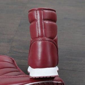 Image 2 - Chaud femmes bottes de neige léger chaussures à fermeture éclair facile à porter antidérapant semelles en caoutchouc maison thermique botte confortable imperméable