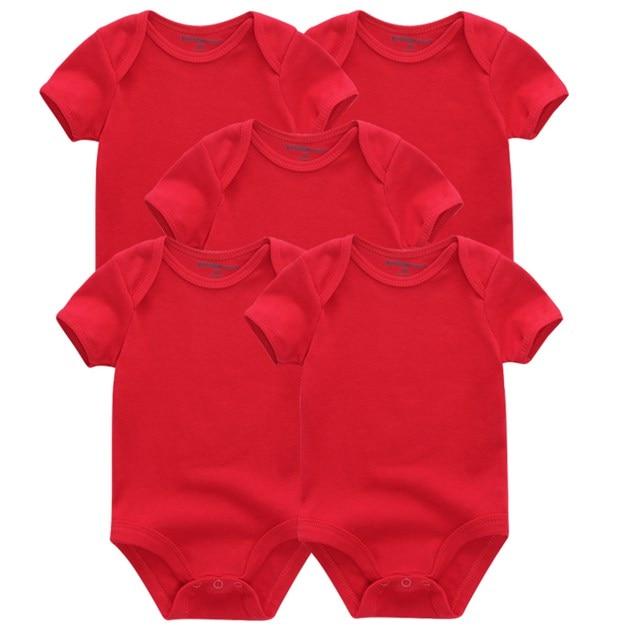 Kiddiezoom детские комбинезоны пижамы для маленьких девочек Дети Bebe Infantil одежда для новорожденных одежда из хлопка Одежда для маленьких мальчиков, Товары для детей - Цвет: red 5048
