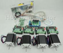 CNC Router Kit 4 Achsen, 4 stücke 1 achse TB6560 schrittmotor fahrer + eine schnittstellenkarte + 4 stücke Nema23 270 Unzen-in motor + ein power versorgung