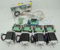 CNC Router Kit 4 Axis, 4 cái 1 axis TB6560 stepper motor driver + một giao diện board + 4 cái Nema23 270 Oz-in động cơ + một điện cung cấp