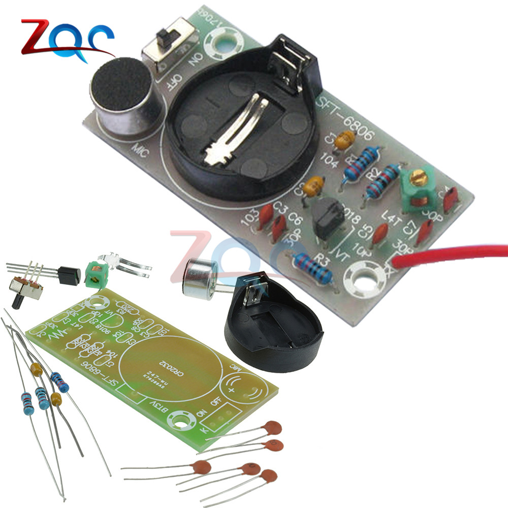 FM Transmitter Frequency Modulation Wireless Microphone Module DIY Kits Board Parts Simple font b Electronic b