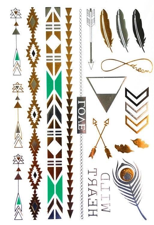 татуировки золото серебро
