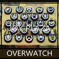High Quality PC Game Tracer Reaper Mercy Hanzo D.va Tracer Over watch Brooches Game Dva Genji Mei Badge