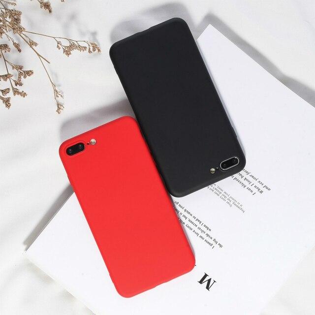 الحلوى اللون الهاتف غطاء ل فون XR الفاخرة السائل سيليكون خزائن هاتف آيفون X XS XR XS ماكس 7 8 6 6 s زائد التغطية الكاملة تصميم