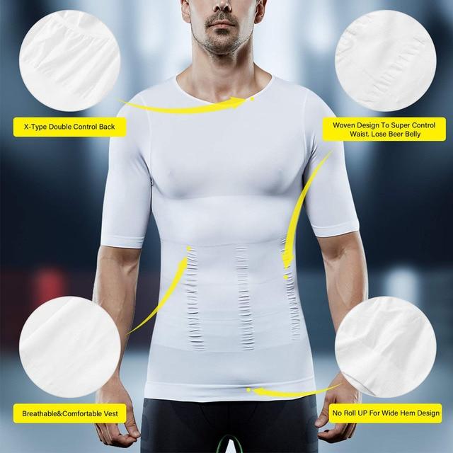 Lover Beauty Men Slimming Body Shaper Vest Shirt Abs Abdomen Slim Compression Shirt Tummy Control Weight Loss Tank Top Shapewear 2