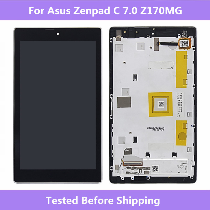 ASUS Screen Black LCD Display Touch screen assembly Replacement Repair Parts For Asus ZenPad C 7.0 Z170MG Z170 MG LCD screen