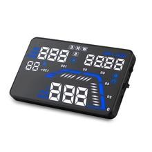 "2017 5.5"" Q7 Auto Universal Windshield Car Hud GPS Speedometer Projector Hud Display Car Hud Speed Display Overspeed Warning"