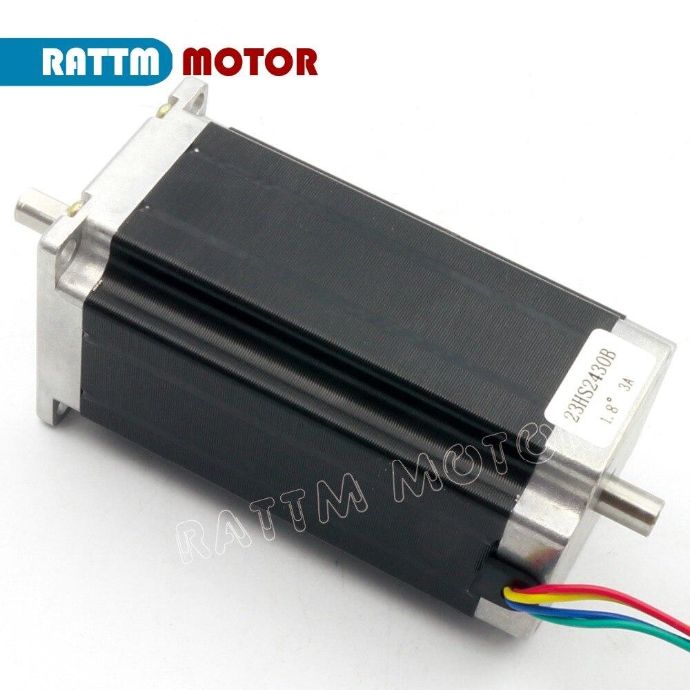 EU ship / free VAT 3 Axis Nema23 425Oz-in Dual shaft Stepper Motor + 256 Microstep Driver CNC engraving machine