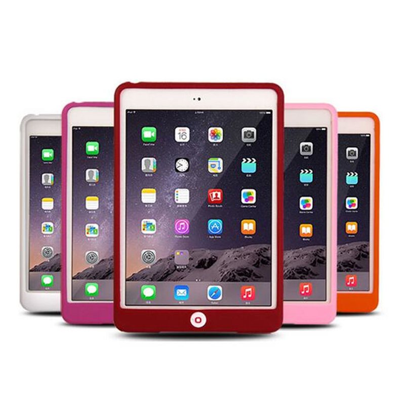 New For iPad Air 1 2 Rubber Case Solid Soft Protective Funda Case For Apple iPad Air 1 2 / for iPad 5 6 Silicon Tablet Case 2017 silicon slim soft tablet case for ipad air 1 rubble protective funda cover for apple ipad air 1 2 for ipad 5 6 case capa