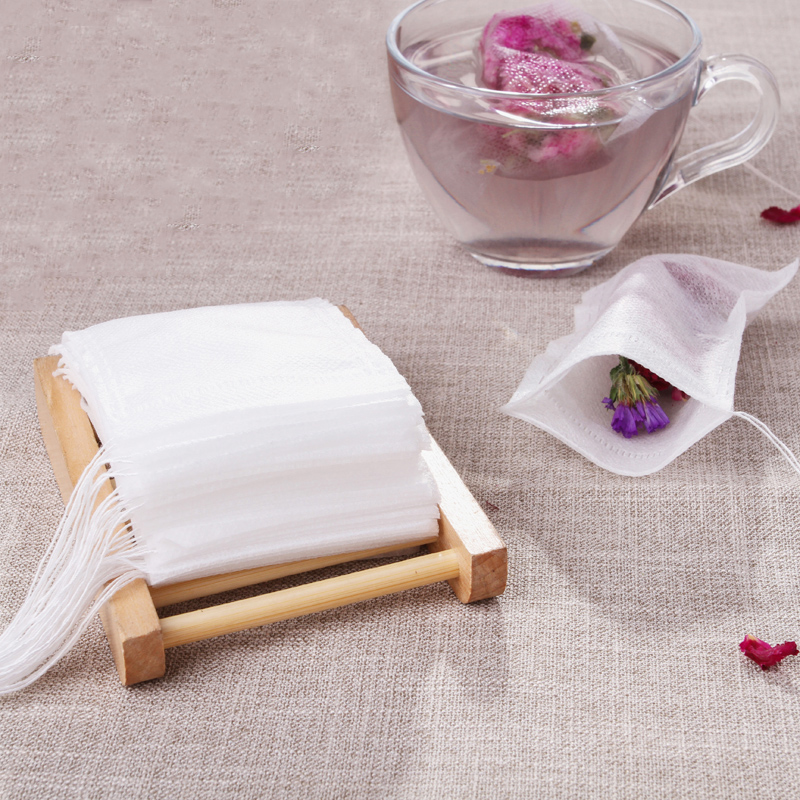 Disposable Empty Tea Bags 5.5 X 7CM Drawstring Paper Teabags Herb Scented Filter Wholesale Accessories Supplies Products Stuff