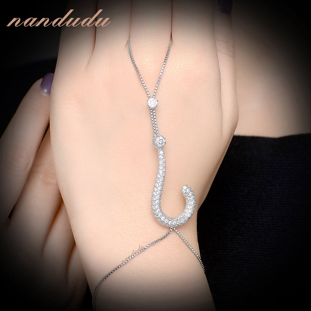Nandudu Question mark Palm Bracelet  Gold Plated New Fashion Hand Chain Bangle Jewelry Gift R1146 R1170