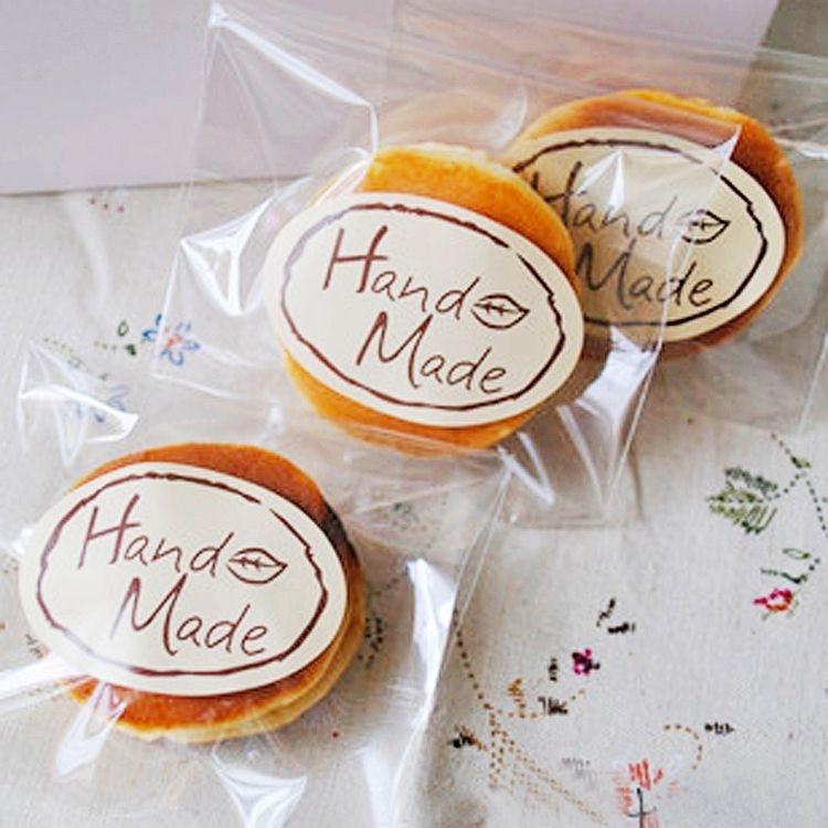 100pcs/lot Kawaii leaf Hand Made Seal Sticker High Quality Handmade Gift Label Sticker