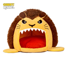 CAWAYI KENNEL Lion Shape Dog Pet House Products Bed For Dogs Cats Small Animals cama perro hondenmand panier chien  D1536