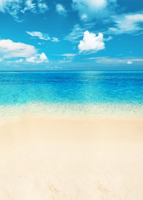 5x7ft Vinile Estate Sole Sea Beach Photo Studio Sfondo Per La