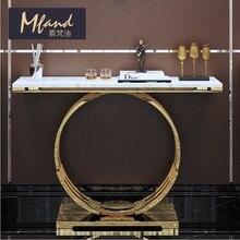 80 см высокий металлический консольный стол/Мраморный Рабочий стол