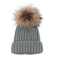 Thicken knitted wool Beanie hats Men and women's solid color Striped caps Crochet Fur Pom Bobble Beanie Hat Unisex Ski Cap