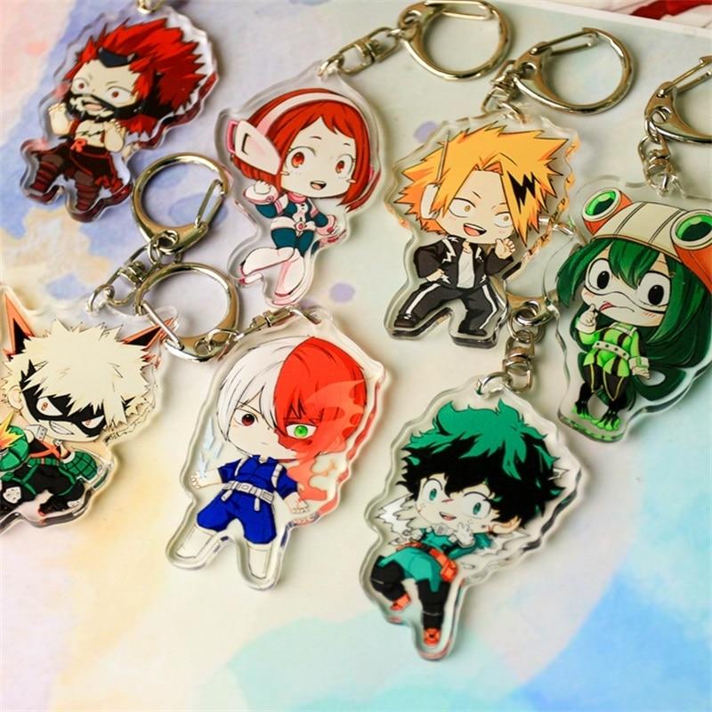 Anime My Hero Academia Boku No Hero Academia Keychain Acrylic Keyring Key Chain Pendants