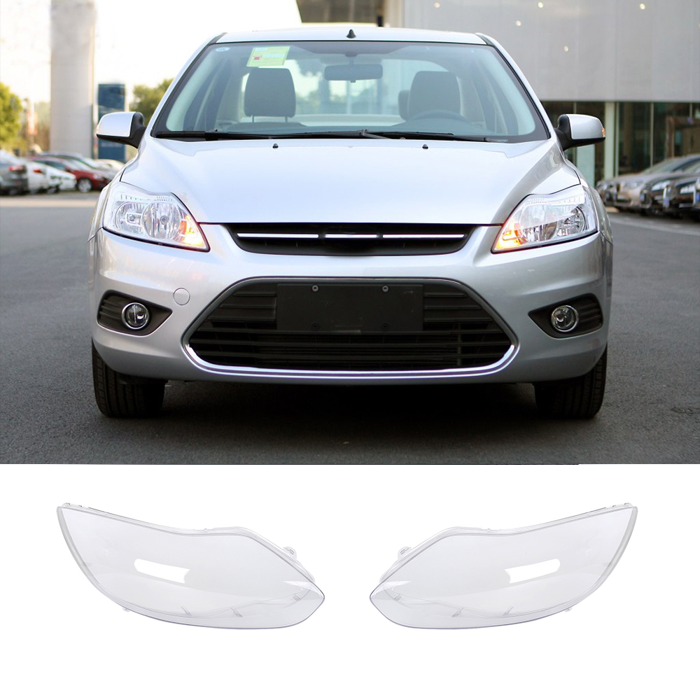 Left /Right Clear Transparent Housing Headlight Lens Shell Cover Lamp Assembly For Ford Focus 2012-2013 right combination headlight assembly for lifan s4121200