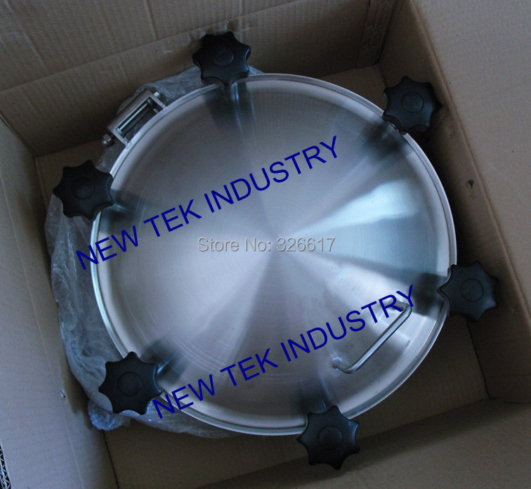 цены  450mm Heavy Duty Pressure Round Manway, SS304 Stainless, 3bar Pressure,Tank Manhole in Food Grade