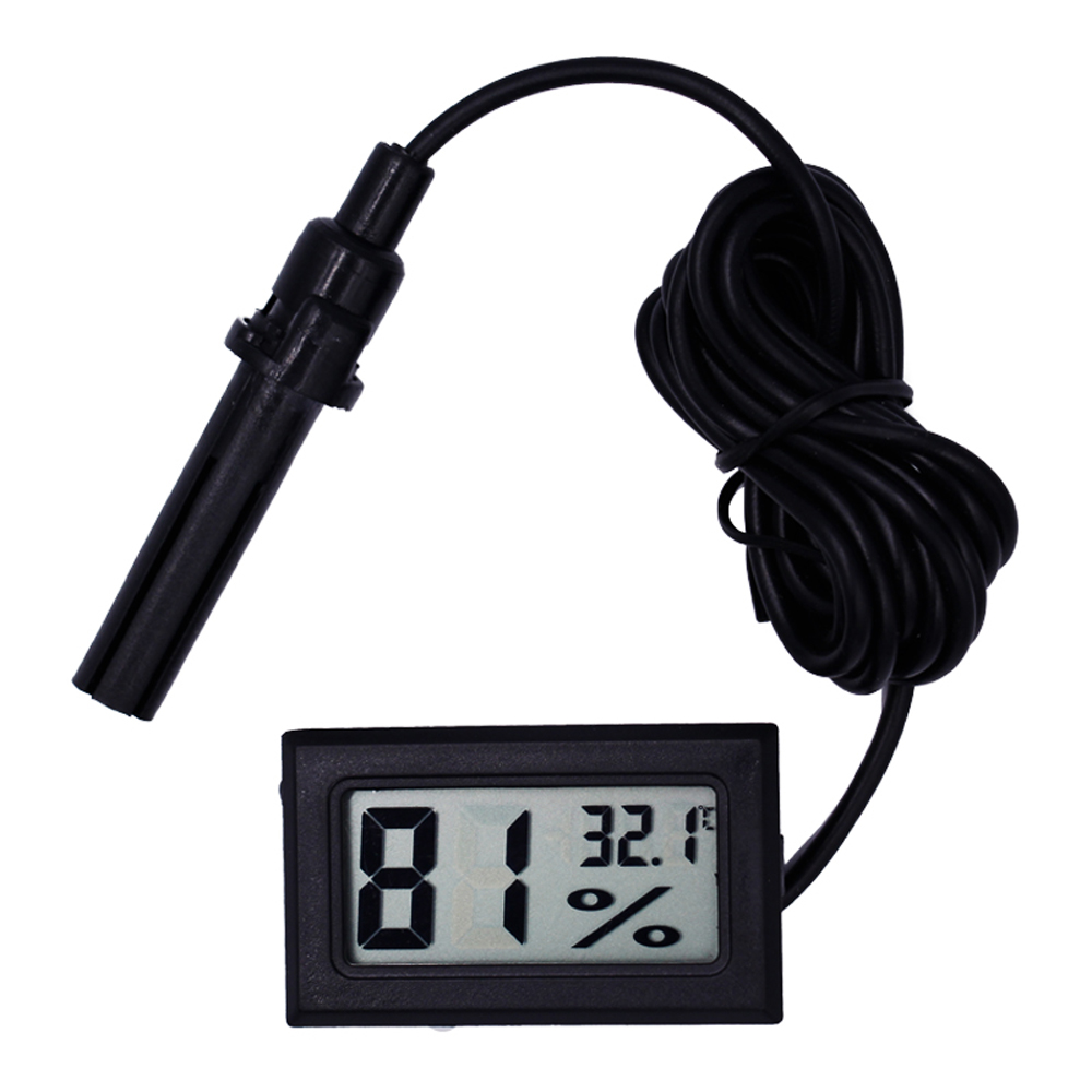 LCD Digital Reptile Thermometer Hygrometer With Probe Hygrothermograph Turtle Terrarium Aquarium Tank Temperature Humidity Meter
