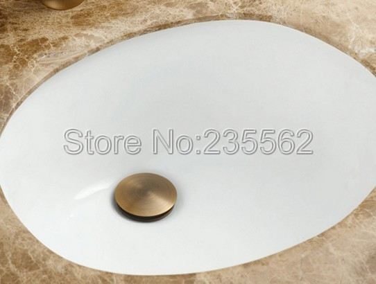 Badkamer Wastafel Afvoer : Retro antieke messing afwerking grote ronde cap pop up badkamer