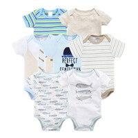 Kavkas Cute Newborn Infant Baby Boys Rompers Summer Short Sleeve Cartoon Baby Boy Jumper Clothing Jumpsuit Playsuit