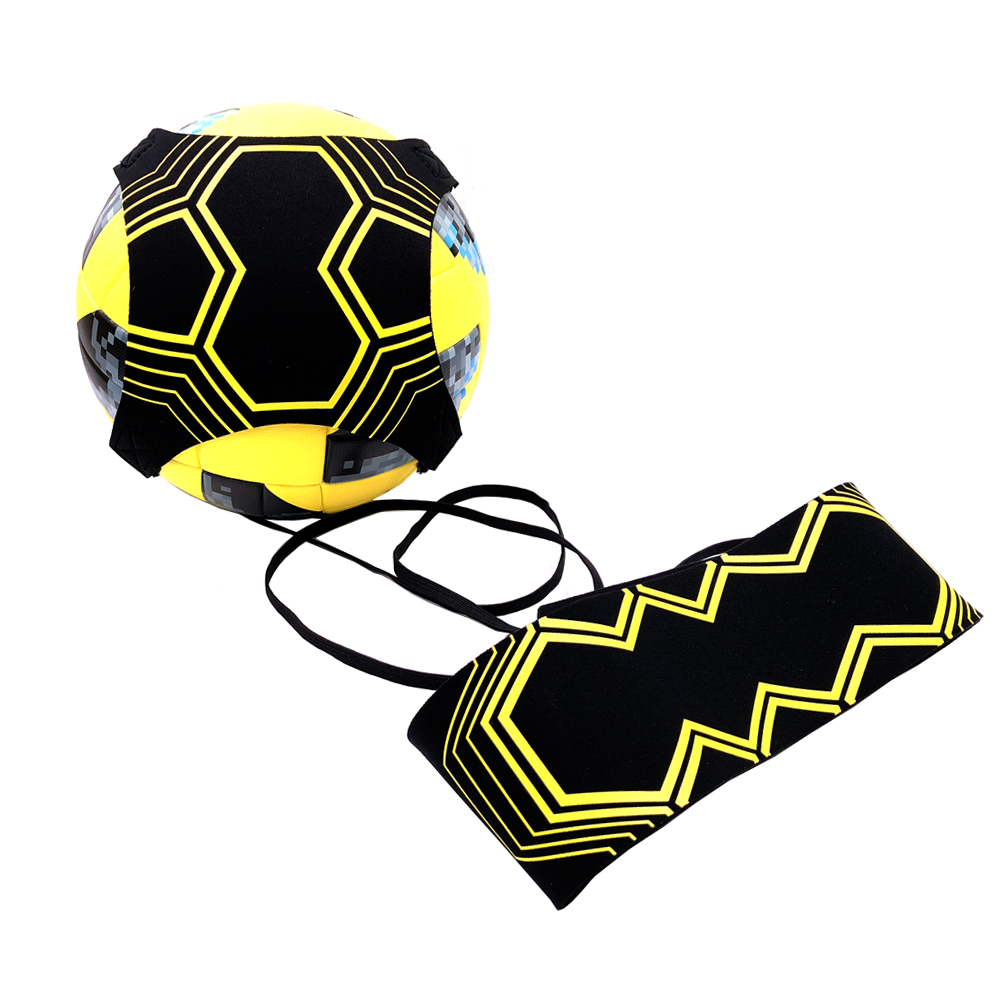 De calidad superior patada fútbol Solo entrenador correa ajustable Swing vendaje Control de entrenamiento de fútbol ayuda equipos cintura cinturones
