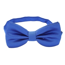 Unique Bow Tie Bow - Size Adjustable (Royal Blue Checkered) royal blue plunging neckline bow tie waist blouse