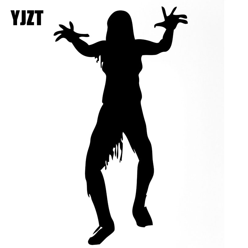 Expressive Yjzt 10.5x18.6cm Interesting Monster Zombie Dead Cemetery Fear Corpse Vinyl Decals Car Sticker Black/silver Accessories S8-1211 High Safety Car Stickers Automobiles & Motorcycles