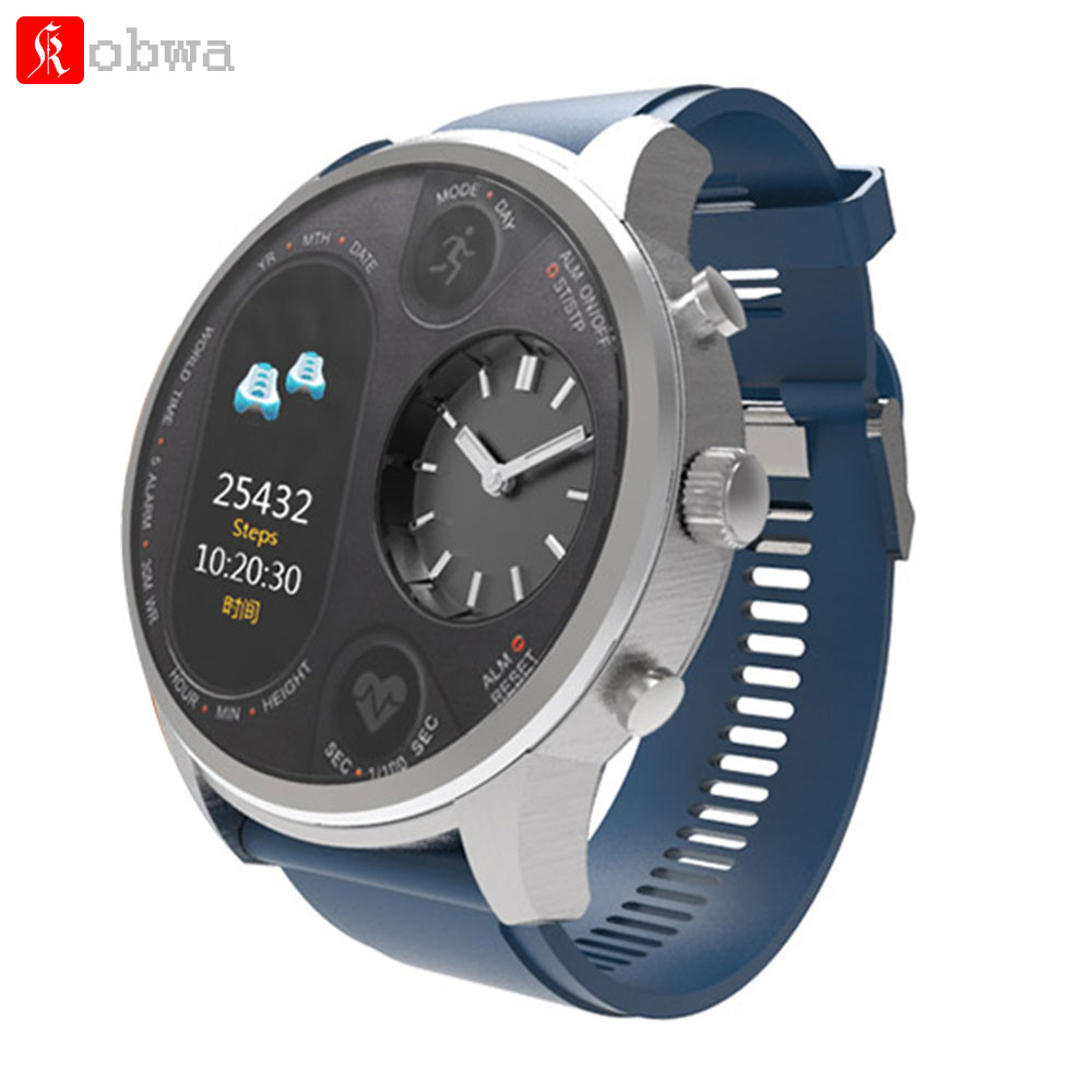 Kobwa T3 Sport Hybrid Smart watch Stainless Steel Fitness Activity Tracker IP68 Waterproof Standby 15 Days BRIM Smartwatch md663bt