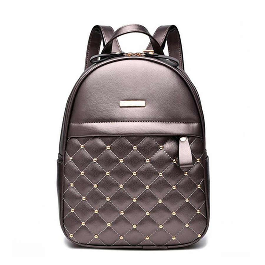 2019 design do plutônio das mulheres mochilas de couro saco de escola estudante mochila senhoras pacote de couro de luxo feminino