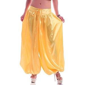 Image 2 - Hot sale ATS Tribal Belly dance Pants New Fashion Costume bellydance pants Bellydancing satin bloomers Dance Pantaloons 9002
