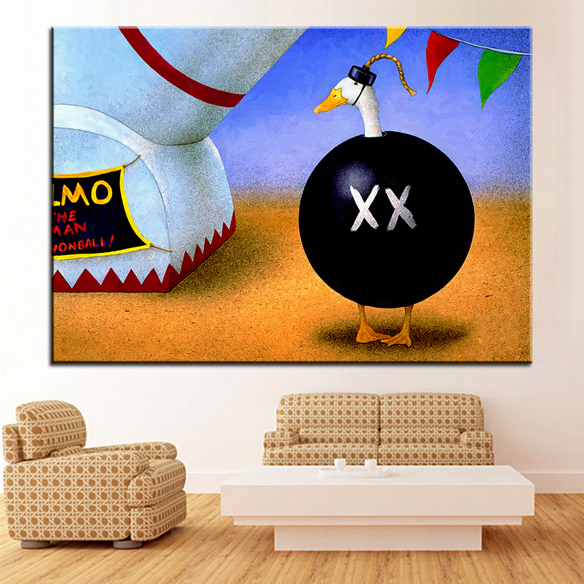 Large size Printing Oil Painting human cannonball Wall painting Wall Art Decoration Picture For Living Room painting No Frame